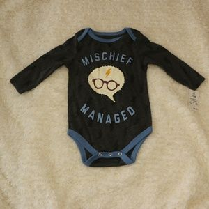 Harry Potter Mischief Managed Baby Onesie